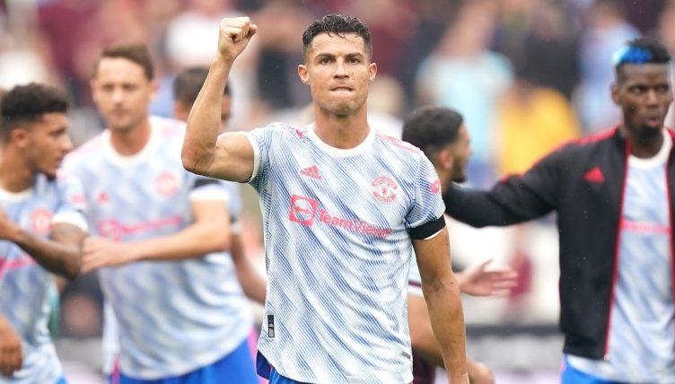 Cristiano Ronaldo celebrates after Manchester United beat West Ham