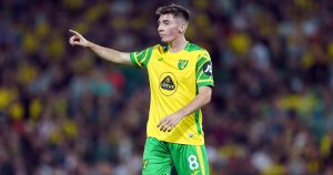 Billy Gilmour during Norwich City's Carabao Cup match against Liverpool.
