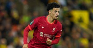 Liverpool's Curtis Jones away at Norwich, Carabao Cup