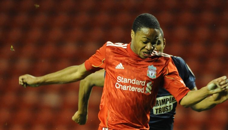 Raheem Sterling playing for Liverpool in the FA Youth Cup