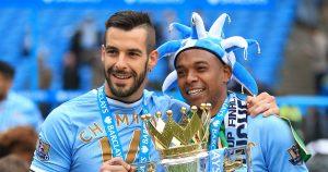 Fernandinho and Negredo, Premier League Champions