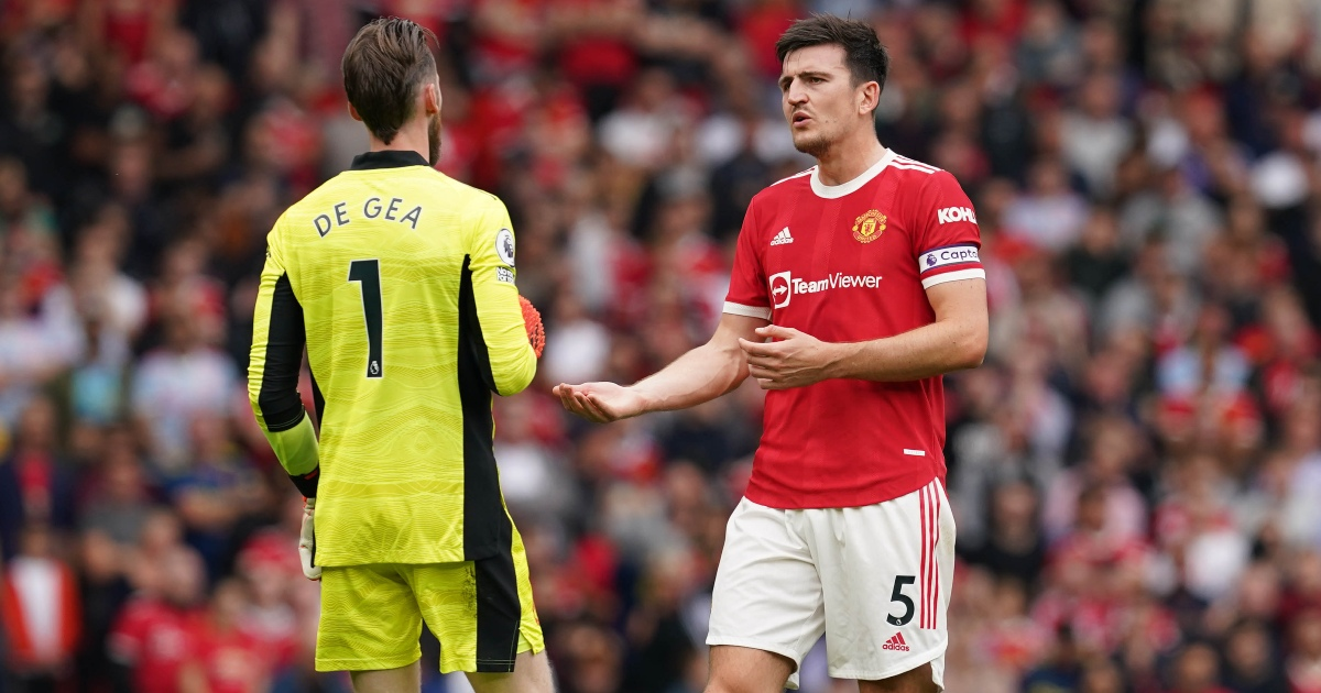 Watch: De Gea has angry words at Harry Maguire after defensive mix-up - Planet Football
