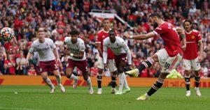 Bruno Fernandes Misses Penalty vs Manchester United