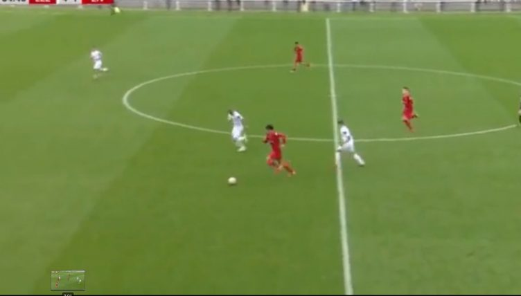Liverpool centre-back Stefan Bajcetic