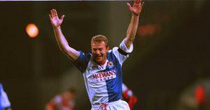 Blackburn Rovers striker Alan Shearer