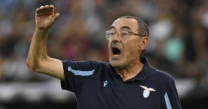 Lazio manager Maurizio Sarri