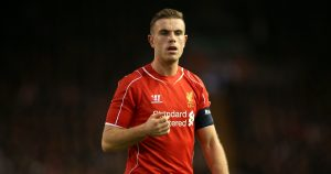 Liverpool captain Jordan Henderson against Bolton, January 2015.