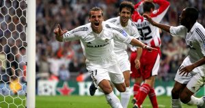 A young Roberto Soldado scores for Real Madrid in 2005-06.