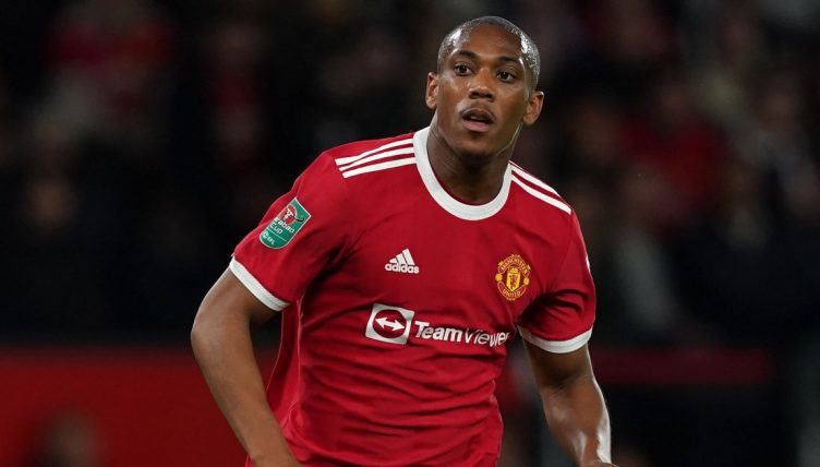 Anthony Martial in action for Manchester United. September 2021.