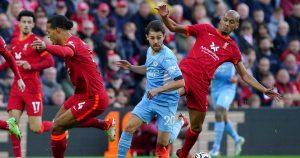 Man City's Bernardo Silva goes on a run against Liverpool
