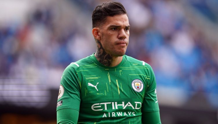Ederson playing for Manchester City - September 2021