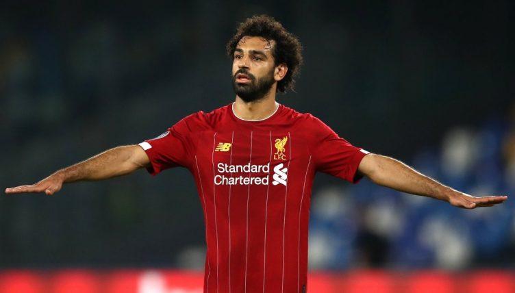 Mohamed Salah playing for Liverpool September 2021