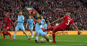 Rodri tackles Fabinho, October 2021.
