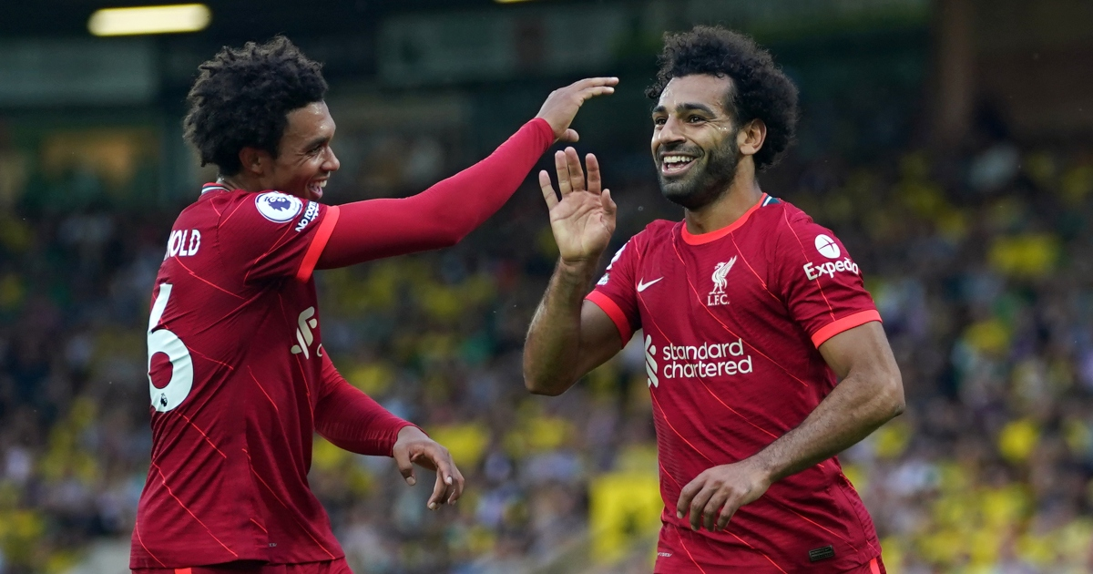 Watch: Klopp and Liverpool bench react with awe after Mo Salah goal - Planet Football