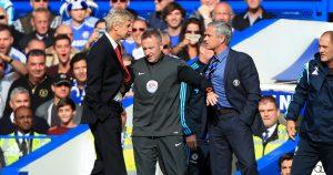 Jose Mourinho and Arsene Wenger, 2014.