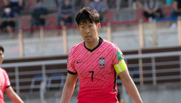 Son Heung-min playing for South Korea