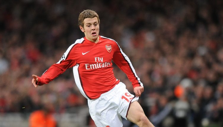 Jack Wilshere playing for Arsenal in the Champions League in 2008.