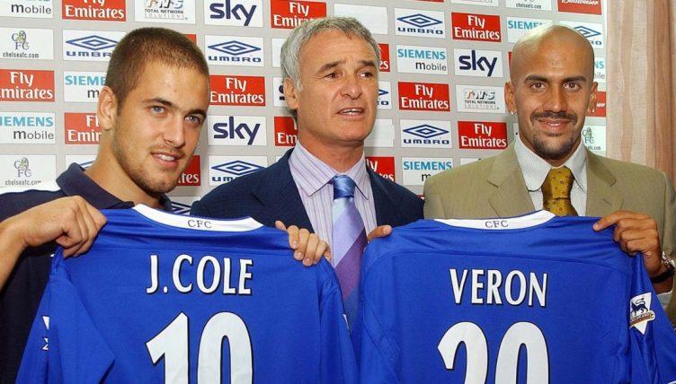 New Chelsea signings Joe Cole and Juan Sebastian Veron