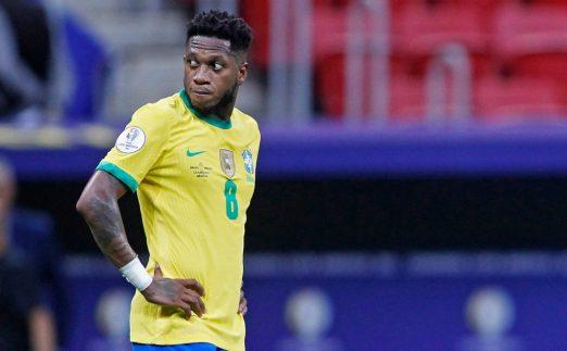 弗雷德在2021年6月巴西和委内瑞拉之间的美洲杯比赛中。