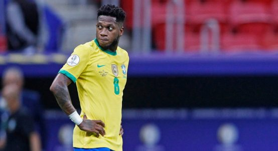 Fred during the Copa America match between Brazil and Venezuela, June 2021.