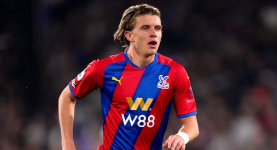 Conor Gallagher during Crystal Palace's match against Brighton & Hove Albion.
