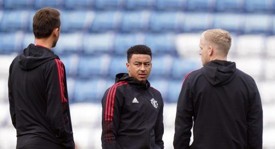 Manchester United's Jesse Lingard training