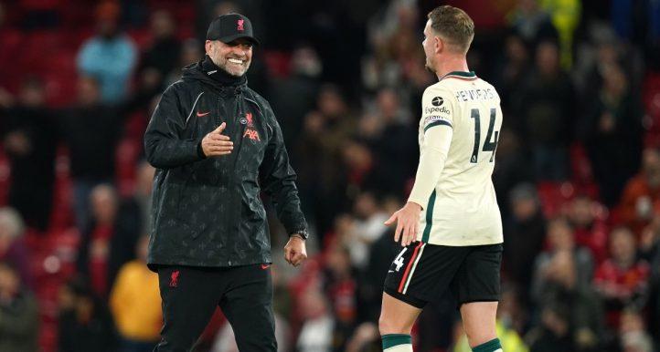 Liverpool manager Jurgen Klopp and captain Jordan Henderson
