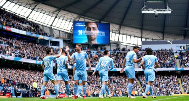 Manchester City's Bernardo Silva after scoring