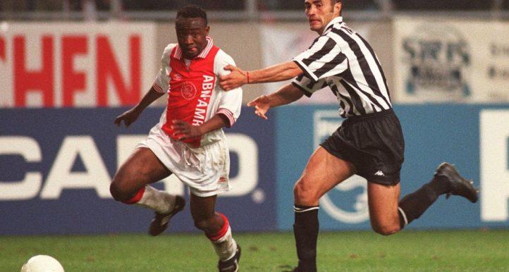 Tijani Babangida in action for Ajax against Juventus in 1997.