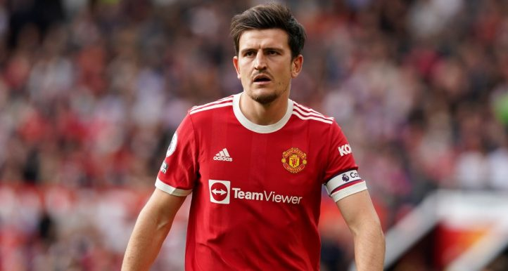 Harry Maguire playing for Manchester United vs Newcastle